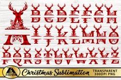 Alphabet Monogram PNG Bundle Christmas Monogram Sublimation Product Image 2