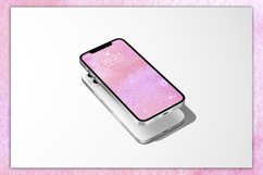 Colorful abstract watercolor backgrounds in pink 8 JPG Files Product Image 3