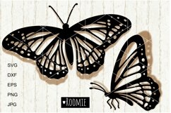 Butterfly SVG, Spring Summer vector clip art Cut files png Product Image 1