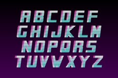 Futuristic english alphabet - 80-90s Product Image 3