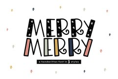 Merry Merry - A Fun Handwritten Font in Three Styles! Product Image 1