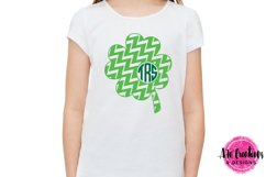 Patterned Monogram Clovers - SVG, DXF, EPS Cut Files Product Image 2