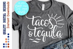 Tacos and Tequila svg Vacation Shirts Svg files Summer Product Image 1