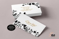 Floral Business Cards, Business Card Template Product Image 1