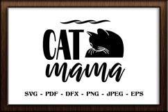 Cat mama SVG cut file Product Image 1