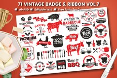 71 VINTAGE BADGE & RIBBON Vol.7 Product Image 1