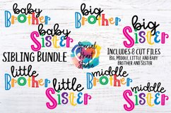 Sibling Bundle - A set of brother and sister SVG designs Product Image 1