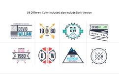 Retro Badge Logo Collection Bundle Product Image 4