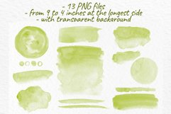 Olive green watercolor stains Wedding Invitation background Product Image 3