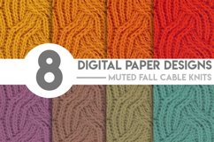 Muted Fall Cable Knits Digital Paper Bundle Product Image 1