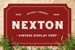 Nexton - Vintage Display Font Product Image 1