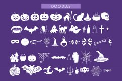 Spooky Halloween Dripping Script With Doodles Product Image 2