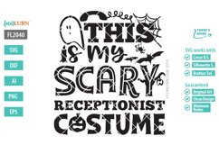 This is My Scary Receptionist Costume SVG Cut File Product Image 2