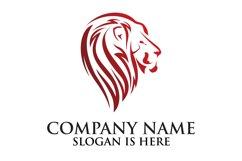 Lion logo design template ,Elegant lion head logo Product Image 1