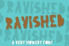 Ravished - A Very Hungry Font With A Crunch Product Image 1