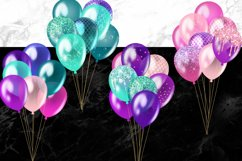Mermaid Balloons Clipart Product Image 2