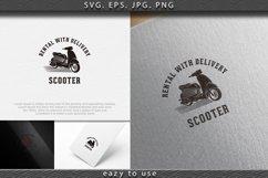 vintage scooter, rental, fast delivery logo Designs Inspirat Product Image 1
