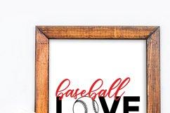 Baseball Love! baseball player fan svg Product Image 5