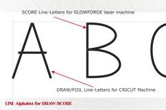 Single line Svg font for laser scoring cricut foil drawing Product Image 2