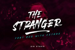 The Stranger Font Duo With Extras Product Image 1