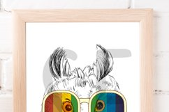 Fashion Owl Wall Art Printable - Instant Digital Download Product Image 2