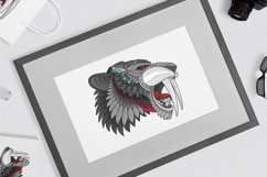 Zentangle Stylized Saber tooth Product Image 2