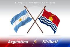 Argentina vs Kiribati Two Flags Product Image 1