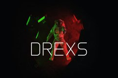 DREXS - Futuristic Typeface Product Image 1