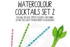 Watercolor Cocktails Clip Art Set 2 Product Image 5