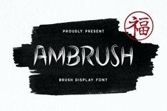 Web Font Ambrush Display Font Product Image 1