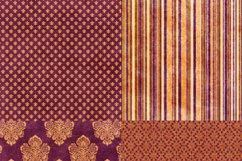 16 Royal Decree Burgundy & Gold Digital Paper Pack Product Image 2