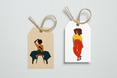 Curvy Woman, abstract clipart, black girl, Plus size Female, Product Image 3