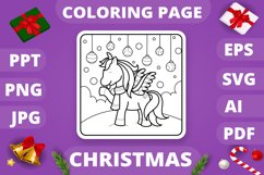 KDP Unicorns Christmas Coloring Book for Kids - 30 Pages Product Image 4