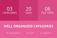 150 Fitness & Sports Glyph Icons Product Image 2