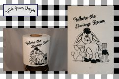 Cowboy Gnome Toilet Paper Embroidery Designs SET Product Image 4
