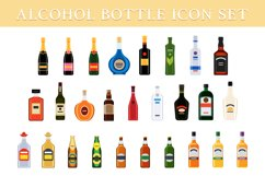 Different bottles of alcohol drinks Product Image 1