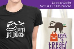 Spooky Sloths - Halloween SVG and Cut Files for Crafters Product Image 2