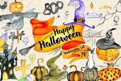Happy Halloween Watercolor Set Product Image 1