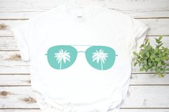 Beach Sunglasses Palm Trees SVG DXF PNG Cut File Product Image 2