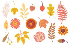 Autumn Owls and Fall Elements, Woodland Animals Clipart Product Image 3