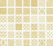 42 Gold Foil Seamless Damask Ornament Transparent Overlays Product Image 5