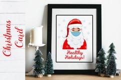 Christmas Card. Quarantine Christmas Card design SVG, PNG Product Image 2
