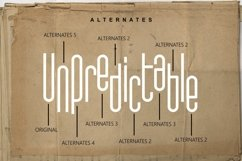 Unpredictable - Display Sans Font Product Image 6