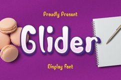 Web Font Glider Font Product Image 1