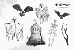 Vintage Halloween clipart Watercolor illustrations set Product Image 4