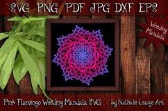 Pink Flamingo Mandala SVG Sublimation and Weeding Design Product Image 1