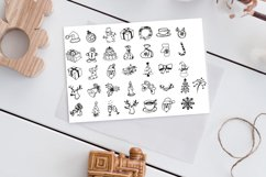 New Year doodle clipart. Christmas vector illustrations. Product Image 3