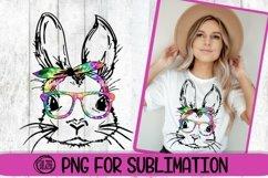 Bunny - Bandana - Easter PNG - Tye Dye - 300 DPI Sublimation Product Image 1