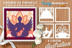 Papercut 3D Layered Mother with Child Flower and Wings SVG Product Image 1