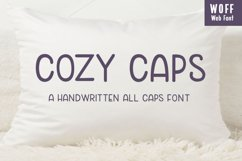 Cozy Caps - A handwritten all caps font - WEB FONT Product Image 1